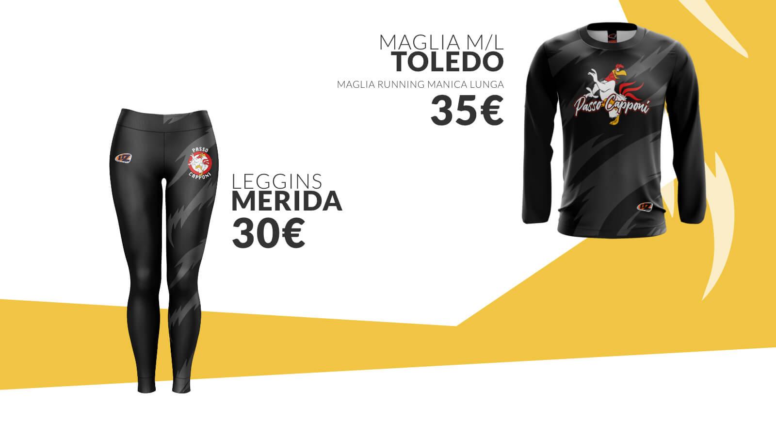 PZ Sport - Passo Capponi: Maglia Toledo, Leggins Merida