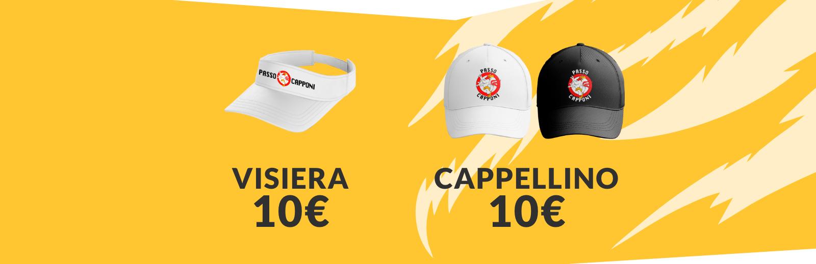 PZ Sport - Passo Capponi: Cappellino Malaga, Visiera, Cappellino